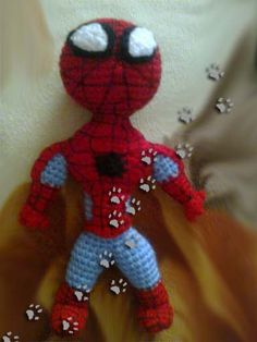 Spiderman ✳ (para ver más ir al blog) #ganchillo #crochet