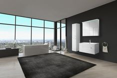 rendering of exclusive Luxury Bathroom Interior in a modern Penthouse living room interior royalty free stock images stock photo Contemporary Bathrooms, Modern Bathroom Design, Diy Bathroom Decor, Bathroom Interior, Gypse, Modern Interior, Interior Design, Interior Photo, Black Walls