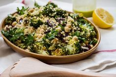 Quinoa Chickpea Veggie Salad with Lemon Basil Dressing #glutenfree #quinoa #chickpea