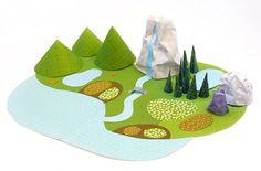 Adoré el paisaje de papeles!  my-paper-world-slide
