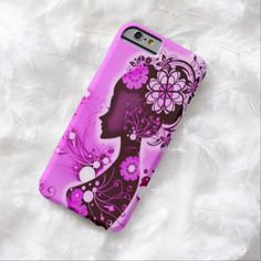 Vintage Retro Girl Airbrush Art iPhone 6 Case by BOLO Designs.
