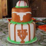 University of Texas baseball cake.