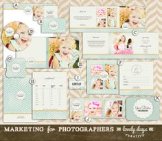 Photography Marketing Templates Set for Photographers Pre Made Branding INSTANT DOWNLOAD. $40.00, via Etsy.
