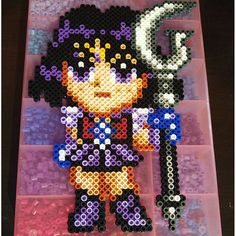 Sailor Saturn perler beads by  bowtiecameraspy