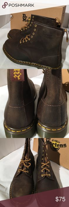 d662b81f81837 Doc Martens Men s Crazy Horse Boots New in Box Brand new leather Doc  Martens Crazy Horse boots in a men s Beautiful brown leather and they come  New in the ...