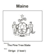 Usa printables state of indiana coloring pages indiana for Maine flag coloring page
