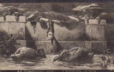 Adolph Hiremy Hirschl | Vasily (Wilhelm) Alexandrovich Kotarbinsky, The Dream | Dark Classics