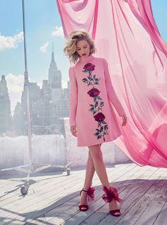 Rose: Rosie Huntington-Whiteley by Alexi Lubomirski for Harper's Bazaar UK September 2015 - Dolce&Gabbana Fall 2015