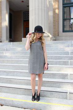 Stephanie Kamp Blog: White Flower V-Neck Shift Dress