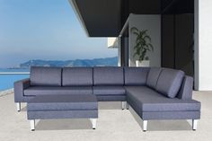Beautiful outdoor sectional sofa that looks like indoor furniture. Comfortable modern design with great functionality. Only from Velago. U Shaped Sofa, Front Rooms, Patio Seating, Patio Furniture Sets, Sofa Set, Sectional Sofa, Outdoor Sofa, Den Ideas, Furnitures