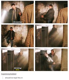Supernatural bloopers are some of the best I've ever seen, but this one for Yellow Fever takes the cake.