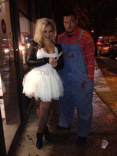 Chucky and Tiffany . Bride of Chucky ! #Halloween