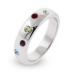 Sterling Silver mother's ring - love the simple style!  You can add an engraved message inside the ring.