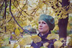 """Войлочный берет """"Осенняя зелень"""" - ручная авторская работа,женская одежда"""