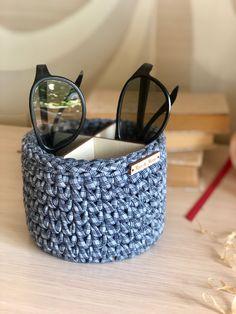 Eyeglass Holder Stand, Terry Towel, Tartan Pattern, Glass Holders, Storage Baskets, Knitting Yarn, Nightstand, Eyeglasses, Sunglasses Case