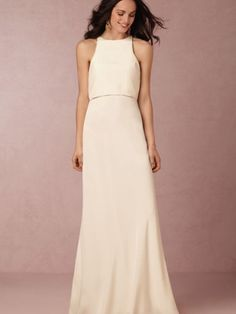 BHLDN Iva Crepe Dress Size 12 Wedding Dress – OnceWed.com