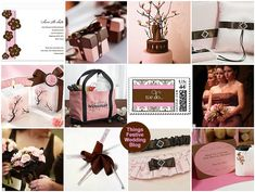 Chocolate brown meets sweet pink to create a delicious spring wedding color palette.