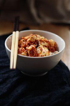 Spicy Garlic Sesame Tofu in 2 minutes!