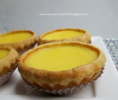 Both me and Max I loves Hong Kong egg tarts. This pastry-crust filled with egg custard and baked snack were introduced in Hong Kong in the Bakery Recipes, Tart Recipes, Dessert Recipes, Baking Desserts, No Bake Snacks, Savory Snacks, Cha Recipe, Hk Egg Tart Recipe, Asian Desserts