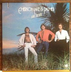 LIMITED TIME SALE -  60% OFF - @ http://stores.ebay.com/musicboy Emerson Lake & Palmer / Love Beach / 1st press w\insert / RARE / Vinyl LP Record