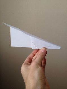 How to Make a Simple Paper Airplane That Flies Great (yeah, that's right. I had to find instructions on how to make a paper airplane when my son asked how.)