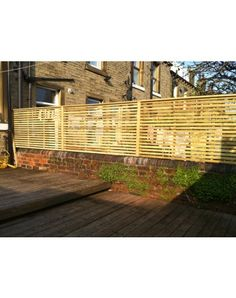 Slatted Screen Fencing by Pride Home Services