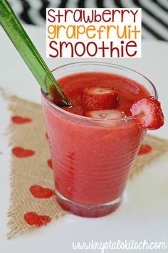 Try this healthy smoothie recipe for a morning boost! A strawberry grapefruit smoothie is easy to make. Add a splash of grapefruit juice for a fun flavor!