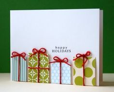 Gift Boxes Christmas Card - super cute and simple. I'm thinking next year I will have to make my own cards again!