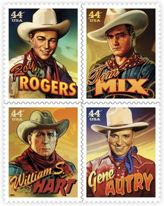 Cowboys of the Silver Screen   Stamp Issue   USA Philatelic