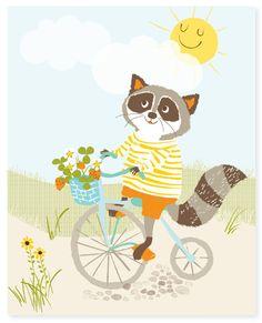 Sunny Day - art print © Sara Ardeleano  via Etsy.