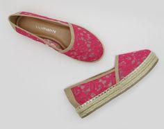 espadrille - rendas - salto plataforma - alpargata - pink - rosa - Verão 2016 - Ref. 15-14208