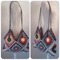 "Granny square bag. Pattern (free) by Drops Design ""Carry me home"""