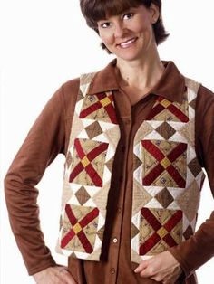 Quilted Clothing - Quilted Vest Patterns - Blocks of Time The T Quilt