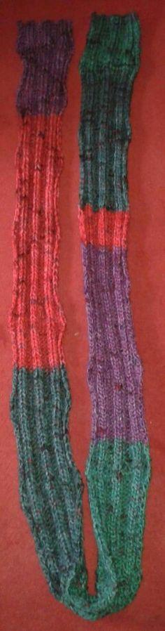 Der längste Schal den ich gestrickt hab ist 2,81 m lang.