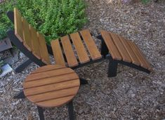 Set: Cedar Chair + Ottoman + Side Table colors available) Beautiful Outdoor Furniture - Handcrafted Quality by Laughing Creek