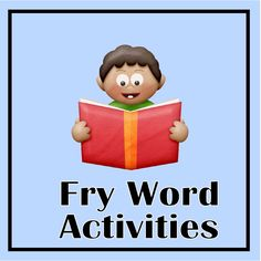 Free, printables to go with the first 100 Fry words, divided into groups of ten.  These would make great independent work or homework practice pages.  Also includes a sheet of game cards that can be used for games or flash cards.