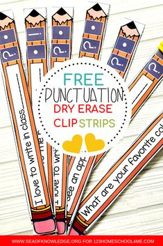 These English Punctuation activities will make for a FUN and exciting grammar station! Laminate and re-use these strips as needed! 1st Grade Writing, Teaching Writing, In Writing, Teaching English, Writing Ideas, Teaching Spanish, Teaching Language Arts, Language Activities, Punctuation Activities