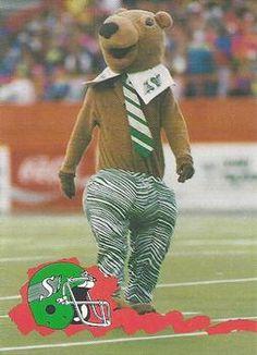 Gainer the Gopher, Saskatchewan Roughriders mascot, ca. Saskatchewan Roughriders, Crown Of Thorns, Football, Stars, Fictional Characters, Soccer, Futbol, Euphorbia Milii, Sterne