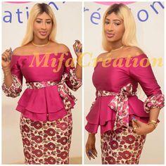 Juste magnifique!😘😘😘 African Blouses, African Lace Dresses, Latest African Fashion Dresses, African Dresses For Women, African Attire, African Wear, African Women, African Inspired Fashion, African Print Fashion