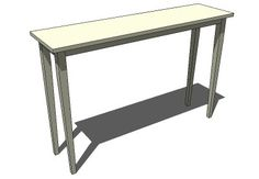 Tall end table behind sofa by SketchUp - 3D Warehouse