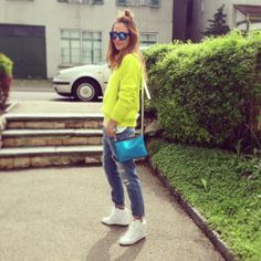 Rémy A. Nike Dunk Sky Hi, Zara Pastel Pink Leather Jacket