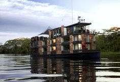 Float down the Amazon on a luxury cruise ship
