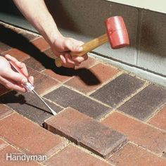 follow these special techniques for removing sunken or dipped patio pavers and resetting them at the proper height. make your patio perfectly smooth again.