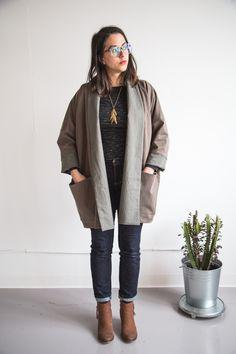 Wiksten Oversized Kimono Jacket from Making Zine via @closetcasepatt
