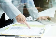 Business man working at office with laptop and documents on his desk, consultant, analize business situation. Senior official checking work. Business office situation.