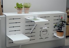 Exciting Tiny Furniture Ideas For Your Small Balcony - furniture - Balcony Furniture Design Narrow Balcony, Modern Balcony, Small Balcony Design, Tiny Balcony, Small Balcony Decor, Balcony Ideas, Small Balconies, Balcony Grill, Small Terrace