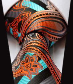 Aqua Sunset Silk Tie and Handkerchief — www.twentydollartie.comTwenty Dollar Tie