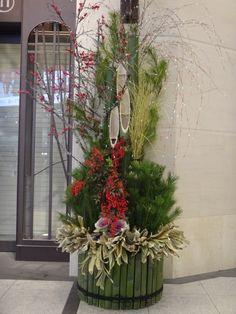 New Year's decorative pine trees