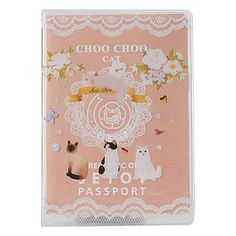 I have no idea what this thing is supposed to be used for...but is so cute  :P  choo choo gatto stile di viaggio credenziali borsa (rosa) – GBP £ 2.82