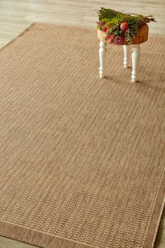 Coffee Super Natural (1.8 X 2.8): Water-resistant, durable poly-propylene woven flatweave (1.8 X 2.8 m). Add textu...